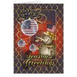 U.S.A. Patriotic Christmas Card - Season's Greeti