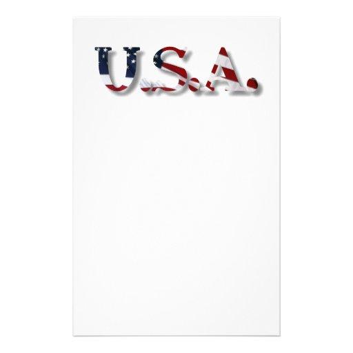 U.S.A. PERSONALIZED STATIONERY