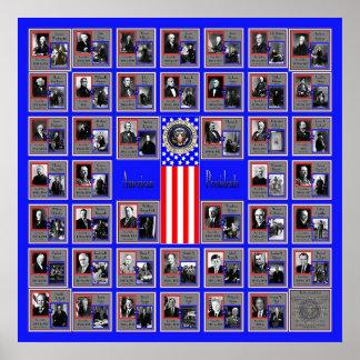 U S A PRESIDENTES BLUE B 568 POSTERS