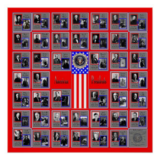 U S A PRESIDENTES RED B 562 POSTERS