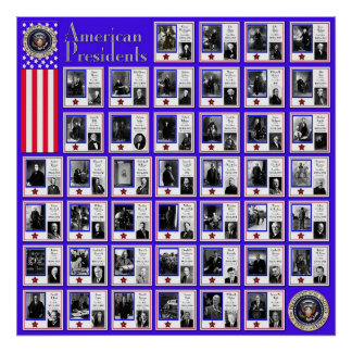 U.S.A. PRESIDENTS BLUE A/567 POSTER