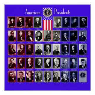 U.S.A. PRESIDENTS BLUE C/569 POSTER