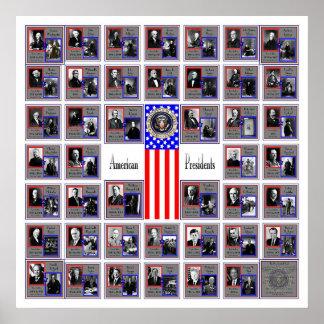 U.S.A. PRESIDENTS WHITE B/565 POSTER
