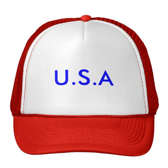 U.S.A. Red White and blue Trucker Hat