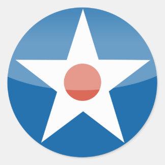 U.S.A.  Retro Classic Round Sticker