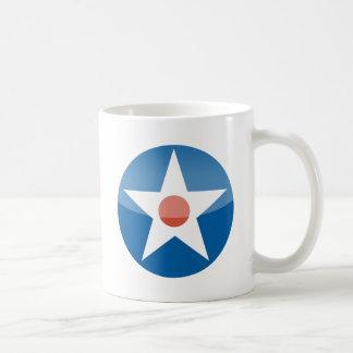 U.S.A.  Retro Classic White Coffee Mug