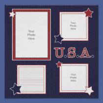 U.S.A. Scrapbook Page posters