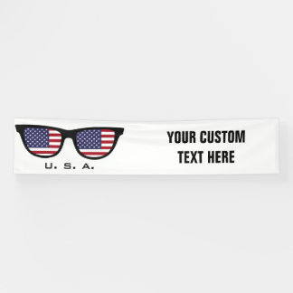 U. S. A. Shades custom text & color banner