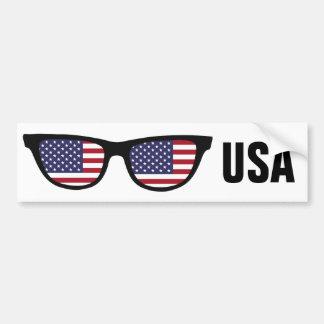 U. S. A. Shades custom text & color bumpersticker Car Bumper Sticker