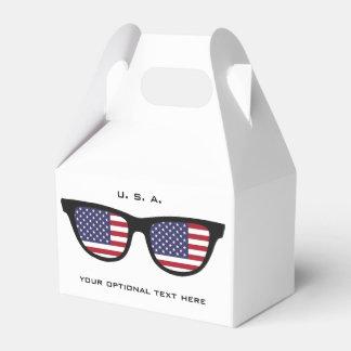 U. S. A. Shades custom text & color favor box