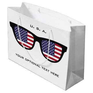 U. S. A. Shades custom text & color gift bag
