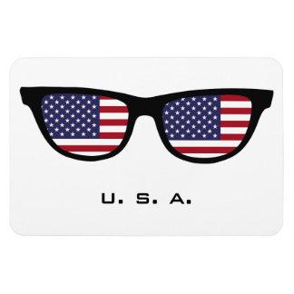 U.S.A. Shades custom text & color magnet