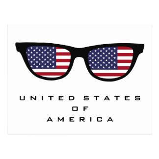U.S.A. Shades custom text & color postcard