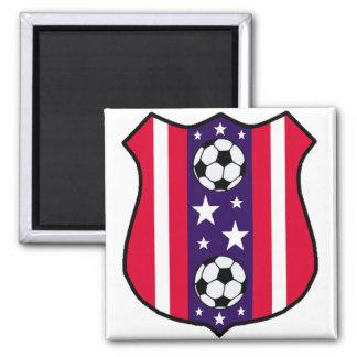 U.S.A Soccer 2 Inch Square Magnet