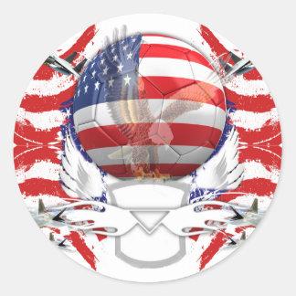 U.S.A. Soccer Classic Round Sticker