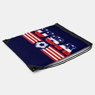 U.S.A SOCCER DRAWSTRING BACKPACK
