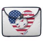 """""""U.S.A."""" Soccer Team Fútbol de Estados Unidos 2014 Funda Para Macbooks"""