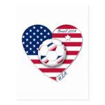 """""""U.S.A."""" Soccer Team Fútbol de Estados Unidos 2014 Tarjetas Postales"""