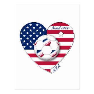 """U.S.A."" Soccer Team Fútbol de Estados Unidos 2014 Tarjeta Postal"