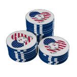 """""""U.S.A."""" Soccer Team. Fútbol de Estados Unidos Fichas De Póquer"""