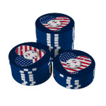 U.S.A. Soccer Team.  Fútbol Estados Unidos 2014 Juego De Fichas De Póquer
