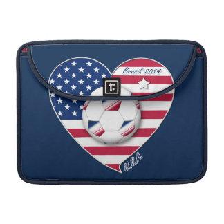 U.S.A. Soccer Team.  Fútbol Estados Unidos 2014 Fundas Para Macbook Pro