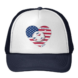 """""""U.S.A."""" Soccer Team Soccer of the United States 2 Trucker Hat"""