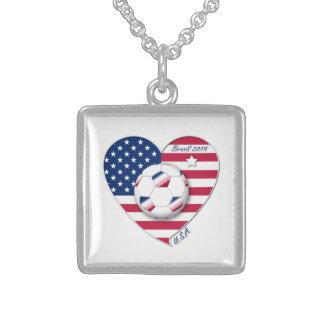 """U.S.A."" Soccer Team Soccer of the United States 2 Custom Jewelry"
