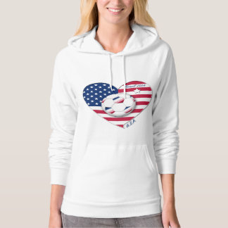 """""""U.S.A."""" Soccer Team Soccer of the United States Hoodie"""