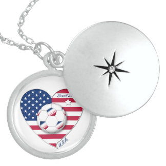 """""""U.S.A."""" Soccer Team. Soccer of the United States Pendant"""