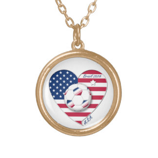 """""""U.S.A."""" Soccer Team. Soccer of the United States Necklaces"""