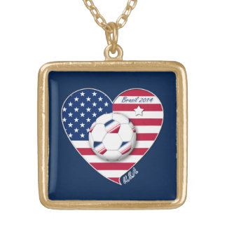 U.S.A. Soccer Team.  Soccer the United States 2014 Necklaces