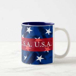U.S.A. Taza de café patriótica