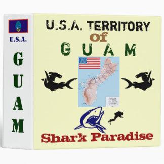 U.S.A. Territory of Guam: Shark Paradise 3 Ring Binder