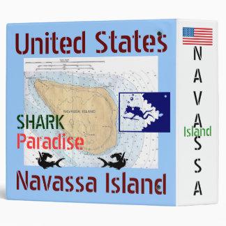 U S A Territory of Navassa Island Shark Paradise Binders
