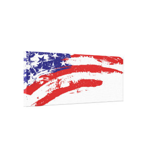 U.S.A. (united States) Flag Paint Splotch Canvas Print