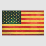 U.S.A. Vintage Style Flag Stickers