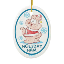 U.S.Acres Holiday Ham PERSONALIZED Ornament
