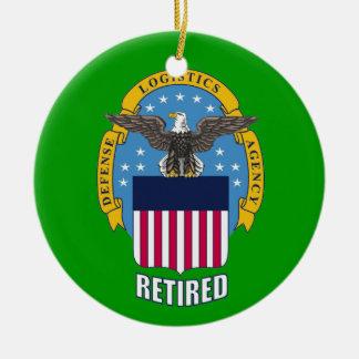 U.S. Agencia de logística de defensa jubilada Adorno Redondo De Cerámica