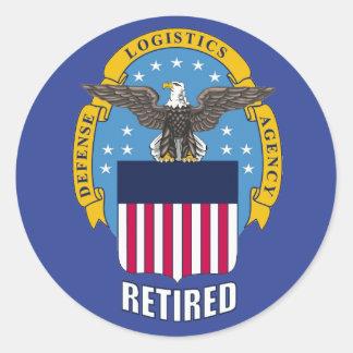 U.S. Agencia de logística de defensa jubilada Pegatina Redonda