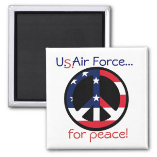 U.S.Air Force..., for peace! 2 Inch Square Magnet