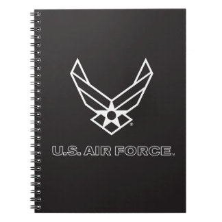 U.S. Air Force Logo - Black Notebook