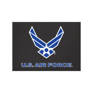 U.S. Air Force Logo - Blue Canvas Print
