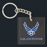 """U.S. Air Force Logo - Blue Keychain<br><div class=""""desc"""">Show your support of the United States Air Force with these classic Us Air Force logos.</div>"""
