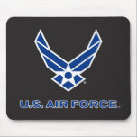"U.S. Air Force Logo - Blue Mouse Pad<br><div class=""desc"">Show your support of the United States Air Force with these classic Us Air Force logos.</div>"