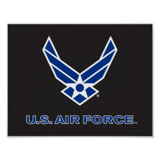 U.S. Air Force Logo - Blue Poster