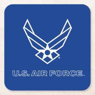 U.S. Air Force Logo - Blue Square Paper Coaster
