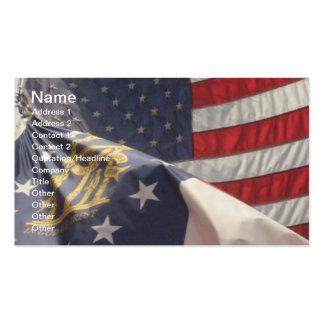 U.S. and Georgia Flags Business Card