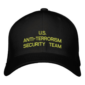 U.S. ANTI-TERRORISM SECURITY TEAM EMBROIDERED HAT