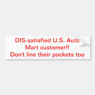 U.S. Auto Mart sucks Bumper Sticker